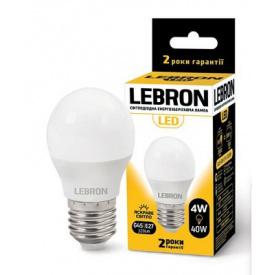 LED лампа Lebron L-G45 4W Е14 3000K 320Lm кут 240°