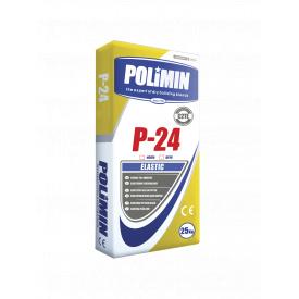 Эластичный клей Polimin WS P-24 Еlastic белый 25 кг / 1,2