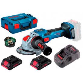 Акумуляторна безщіткова болгарка Bosch Professional GWX 18V-15 SC з регулюванням в L-Boxx 136 з 2 акб ProCORE