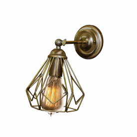 Бра в стиле лофт MSK Electric бронзового цвета NL 5380-1 BN