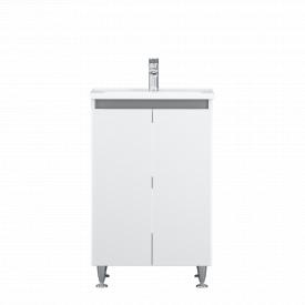 Тумба з раковиною AM.PM X-Joy підлогова, 55 см, дверцята, білий глянець M85-FSX0551-WC0551WG38