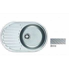 Кухонна мийка FRANKE PAMIRA вбудована зверху, 1-камерна оборотна 770х500 мм h165, хром 101.0255.793