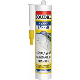 Герметик силиконовый нейтральный санитарный прозрачный SOUDAL 280 мл