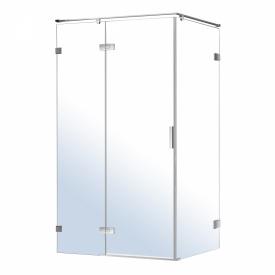 NEMO душевая кабина прямоугольная 120x80x195см левая распашная прозрачное стекло 8мм зеркальный хром VOLLE 10-22-171Lglass