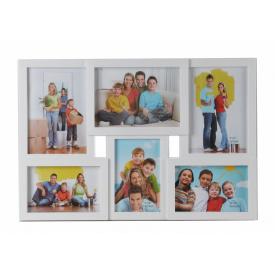 Мультирамка для фото Angel Gifts 6 в 1 біла (BIN-1122960 (w))