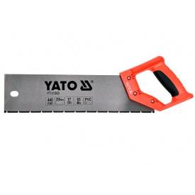 """Ножовка по ПВХ материале и пластике YATO 17 зубов/1"""" общая 440мм полотно 350мм (YT-31303)"""
