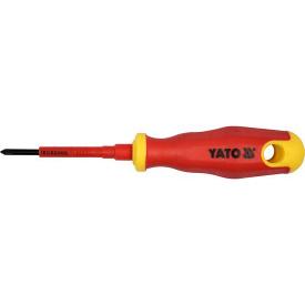 Отвертка крестовая YATO диэлектрическая PH0x60мм VDE до 1000V (YT-2821)