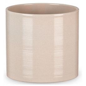 Кашпо для цветов Scheurich Inspiration 3,356л керамическое кремовое