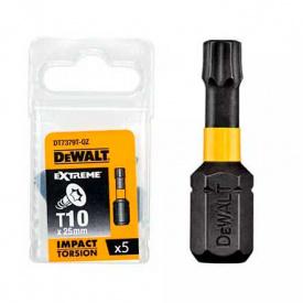 Набор бит DeWALT ударные, IMPACT TORSION Torx, Т27, 50 мм, 5 шт (DT7397T)