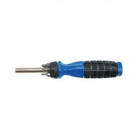 Отвертка VOREL з резиновой ручкой + насадки 6шт (65041)