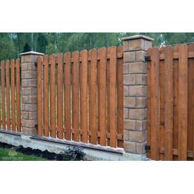 Забор Закругленный штакетник 140/80 мм