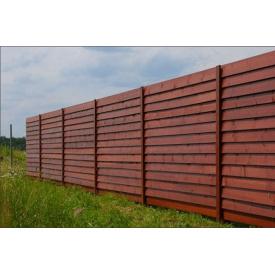 Забор Тип №3 Жалюзи 100х20 мм Дерево Карпаты (74481)
