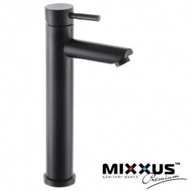 Смеситель для умывальника MIXXUS Sus-001 High Black (Chr-001-H), Польша (нержавеющая сталь) 1