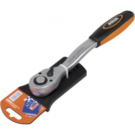 58-200 Ключ трещеточний з реверсом (72 зубця) двухкомп рукоятка 1/4 ''