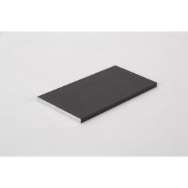 Полоса алюминиевая анодированная 50x4 мм 5950 мм черный Brush