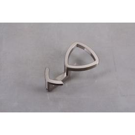 Мебельный крючок Falso Stile KK-17 двойной - никель