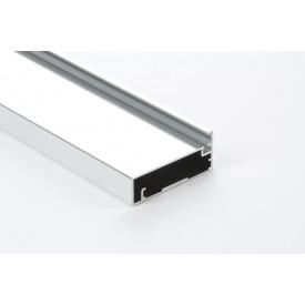 Алюминиевый рамочный профиль для мебельных фасадов М23 new 2,95 м хром