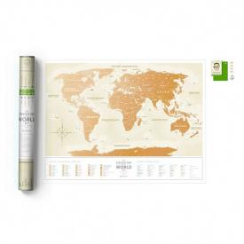 Скретч карта мира Travel Map Gold World укр.