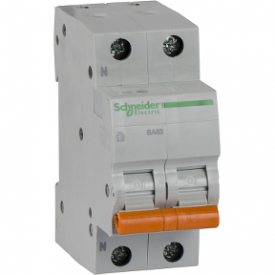 Автоматичний вимикач ВА63 1П+Н 20A C 4,5 кА