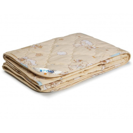 Одеяло детское шерстяное Руно демисезонное бежевое 140x105 см