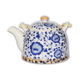 Чайник заварочный O'Lens керамический с металлическим ситом Синяя мальва 600 мл
