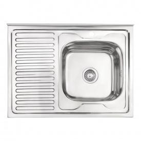 Кухонная мойка Lidz 6080-R 0,6 мм Polish (LIDZ6080RPOL06)