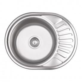 Кухонная мойка Lidz 5745 0,6 мм Micro Decor (LIDZ5745MDEC06)
