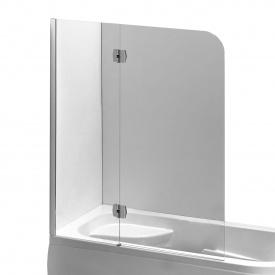 Шторка на ванну 120x150 см левая профиль хром EGER 599-120CH/L