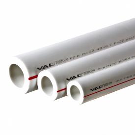 Полипропиленовая труба Valtec PP ALUX арм алюминием PN25 40 MM белый VTp.700.AL25.40