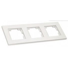 Рамка горизонтальна тримісна RITA Mutlusan білий