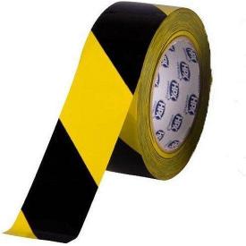 Клейкая лента для маркировки пола HEAVY DUTY MARKING HPX желто-черная 48 мм 33 м TS5033