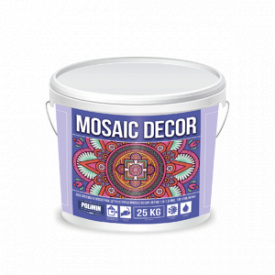 Декоративна мозаїчна штукатурка MOSAIC DECOR зерно 1,0-1,6 мм колір 3 Polimin по 25 кг