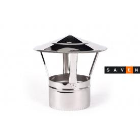 Грибок для дымохода с нержавеющей стали одностенный 150 0,5 мм AISI 201