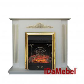 Електрокамін з порталом ROYAL FLAME IdaMebel Catarina Gold каминокомплект