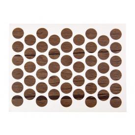 Заглушка конфирмата самоклеющаяся Weiss d=14 дуб коричневый 50 шт 282