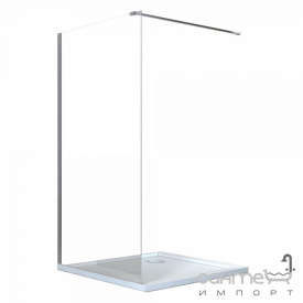 Душевая кабина бездверная пристенная Besco Aveo Due Walk in 140x195 стекло прозрачное