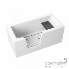 Акриловая ванна с стеклянной дверцей Polimat Avo 150x75 0483 + передняя панель 00485 боковая панель 00891