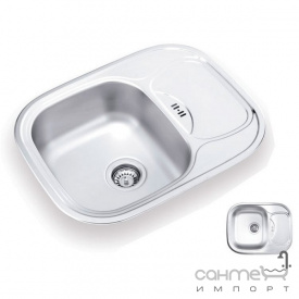 Кухонна мийка Ukinoх Galant 628.488 GW 6K L н/с декор оборотна