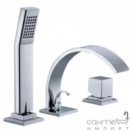 Смеситель для ванны на три отверстия Blue Water Toronto TOR-BWW 080C хром