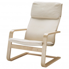 Кресло IKEA PELLO Хольмби Белый (500.784.64)