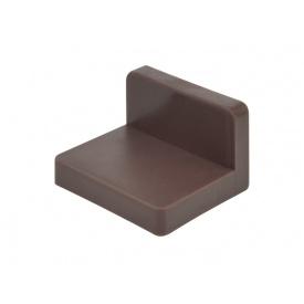 Куточок меблевий монтажний з пластиковою заглушкою GIFF коричневий