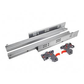 Направляющая скрытого монтажа полного выдвижения с отталкивателем Clip 3D GIFF PRIME 19 мм мм 400