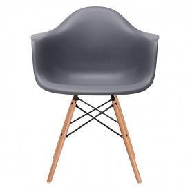 Кресло SDM Тауэр Вуд ножки деревянные/пластик Темно-серый (hub_RNKS44759)