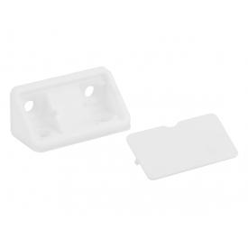 Куточок меблевий подвійний пластиковий GIFF білий