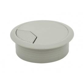 Заглушка кабельная пластиковая GIFF серый