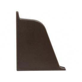 Заглушка к плинтусу 118 Rehau Сепия коричневая-левая 96102
