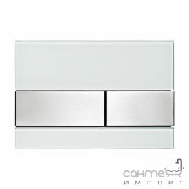 Панель смыва стеклянная (зеленое стекло) TECE TECEsquare 9.240.804 клавиши нержавеющая стель