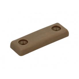Опора пластикова подвійна під саморіз GIFF коричневий