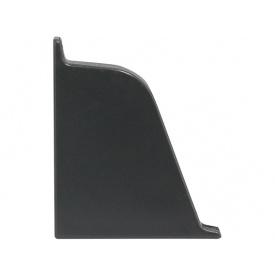 Заглушка к плинтусу 118 Rehau Темно-серый-левая 98151
