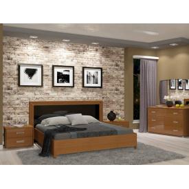 Спальний гарнітур Белла чорний глянець-вишня бюзум 1